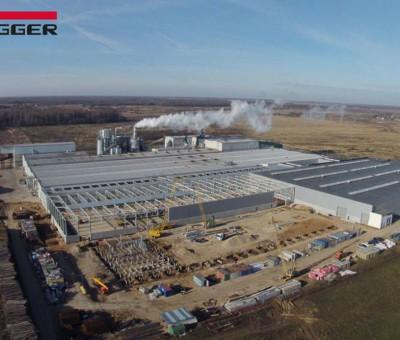 Строительство производственных цехов в рамках расширения завода по производству МДФ EGGER